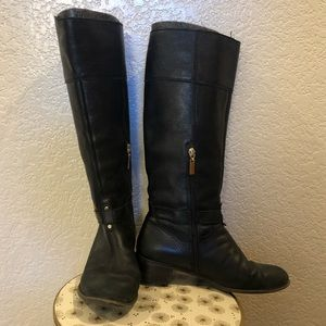 Banana Republic black leather riding boots